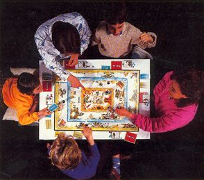Not how talisman was originally played - the eagle-eyed may spot that this is actually a french family enjoying one of the international talisman editions